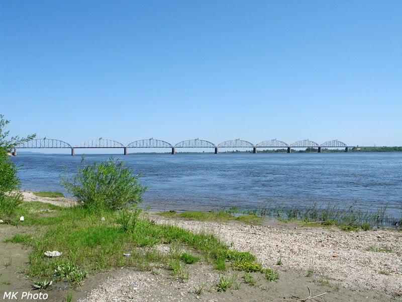 Мост через Зею, общий вид