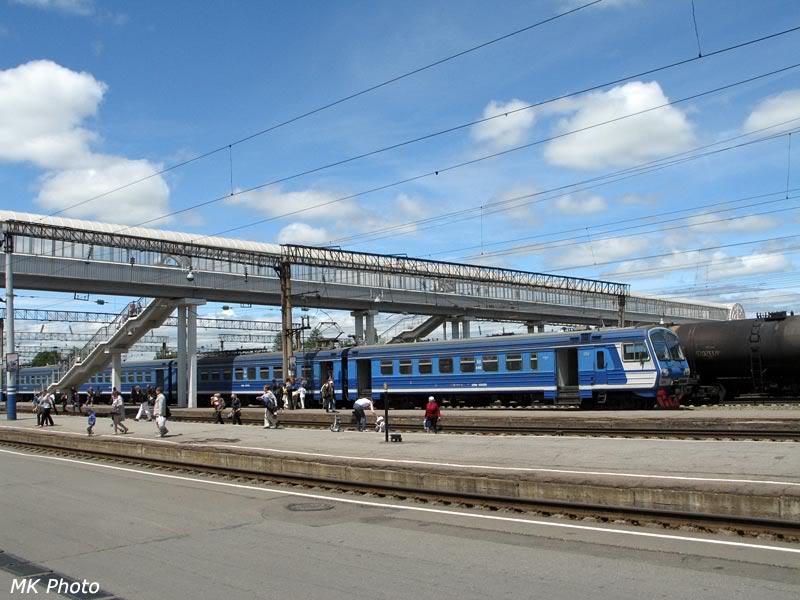 Пешеходный мост в Хабаровске