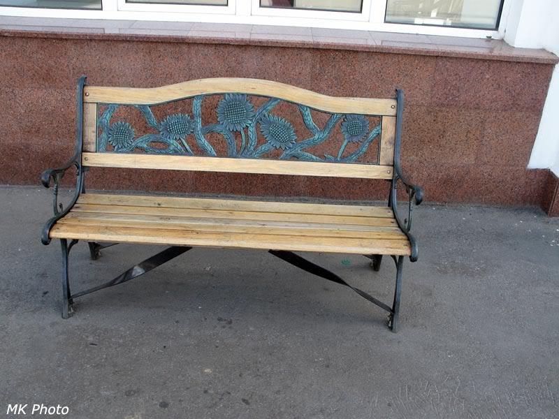 Скамейка на перроне Хабаровска