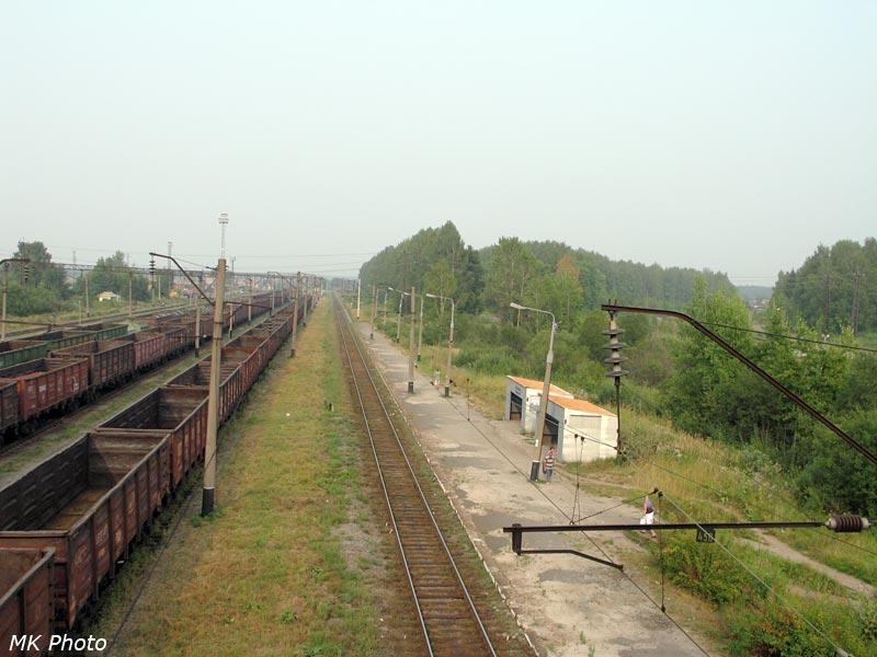 Лянгасово (платформа и навес у чётного пути)