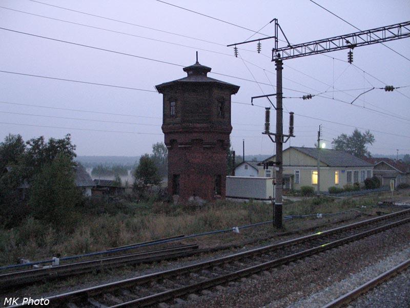 Полой, вокзал и водонапорная башня
