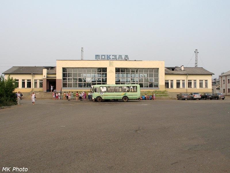 Вокзал Балезино, вид с привокзальной площади