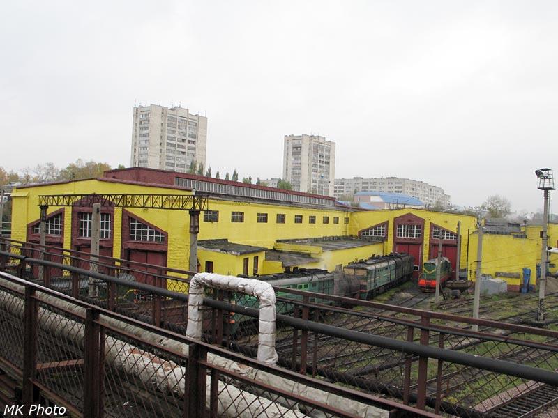 Тепловозное депо на ст. Юдино