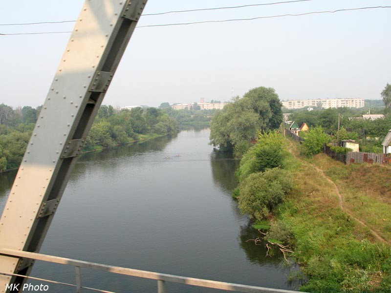 Река Клязьма, вид с моста