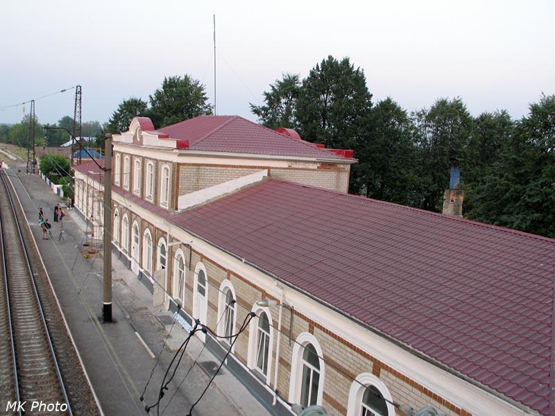 Вокзал Гороховец с пешеходного моста