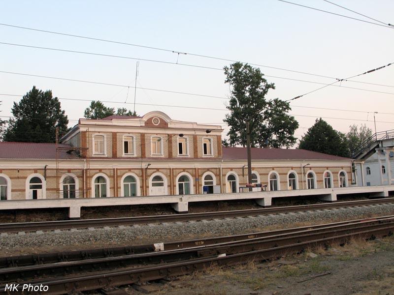 Вокзал Гороховец со стороны путей
