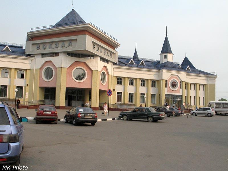 Вокзал Семёнов, вид с привокзальное площади