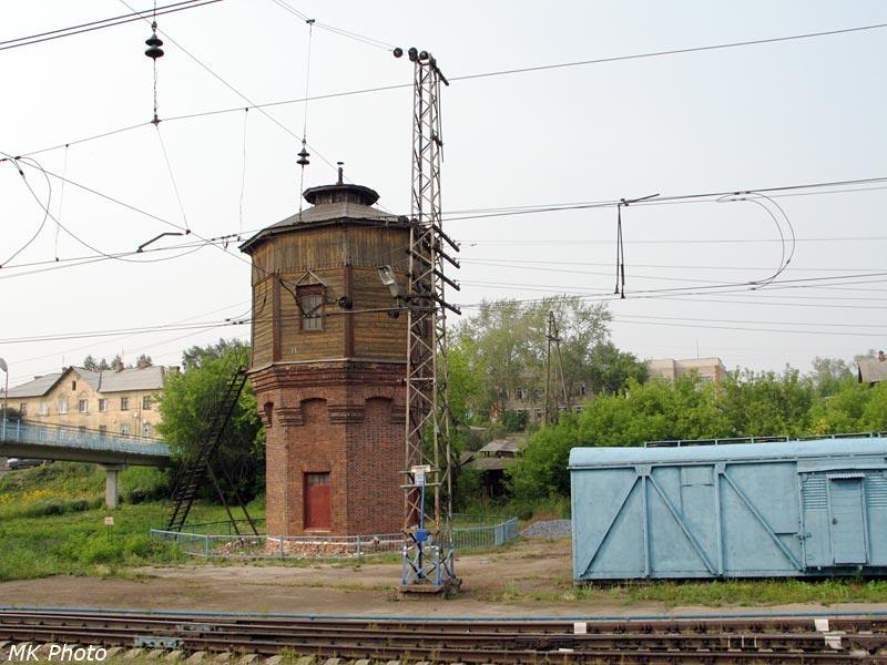 Водонапорная башня на ст. Кез