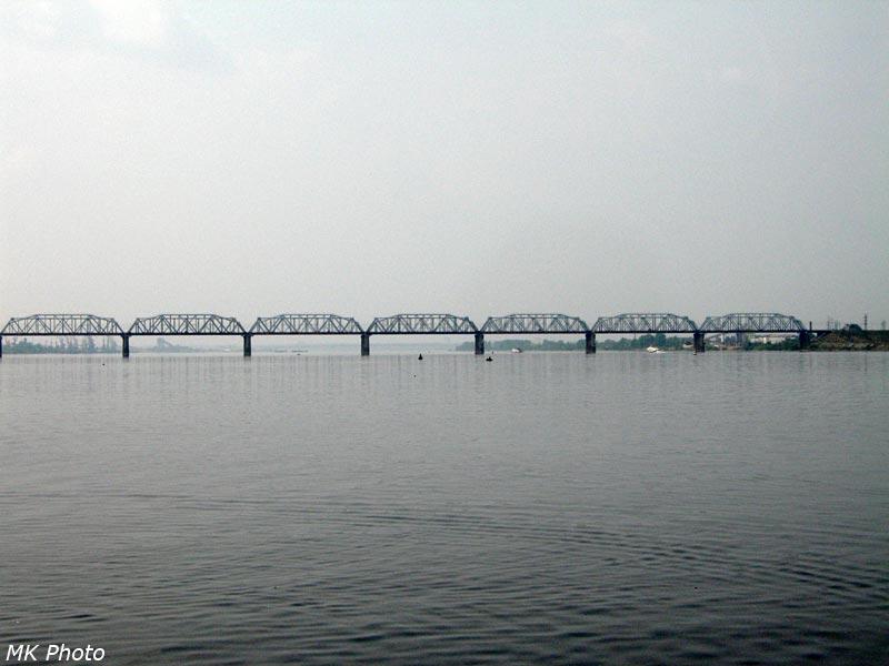Железнодорожный мост через р. Кама