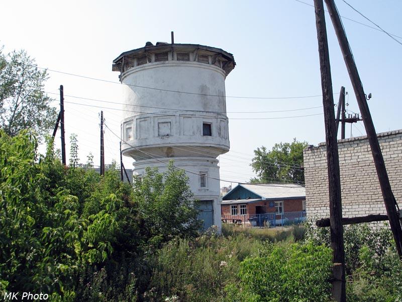 Водонапорная башня на ст. Баженово