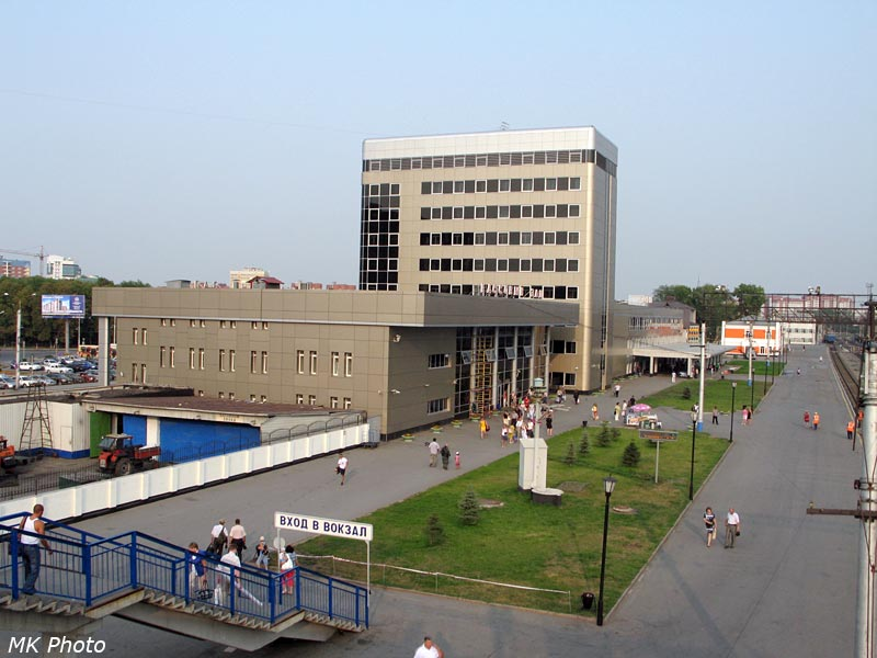 Вид на тюменский вокзал с виадука