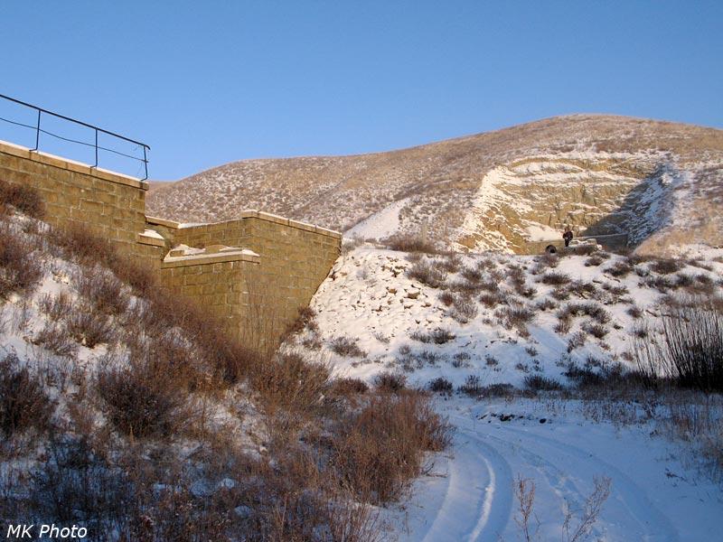 Заброшенный мост и горка с тоннелем
