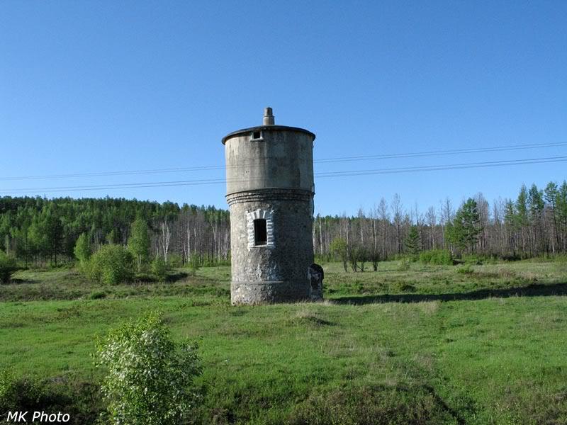 Водонапорная башня (здесь была станция Керак)