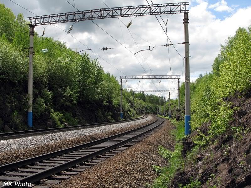 Выемка восточнее станции Талдан