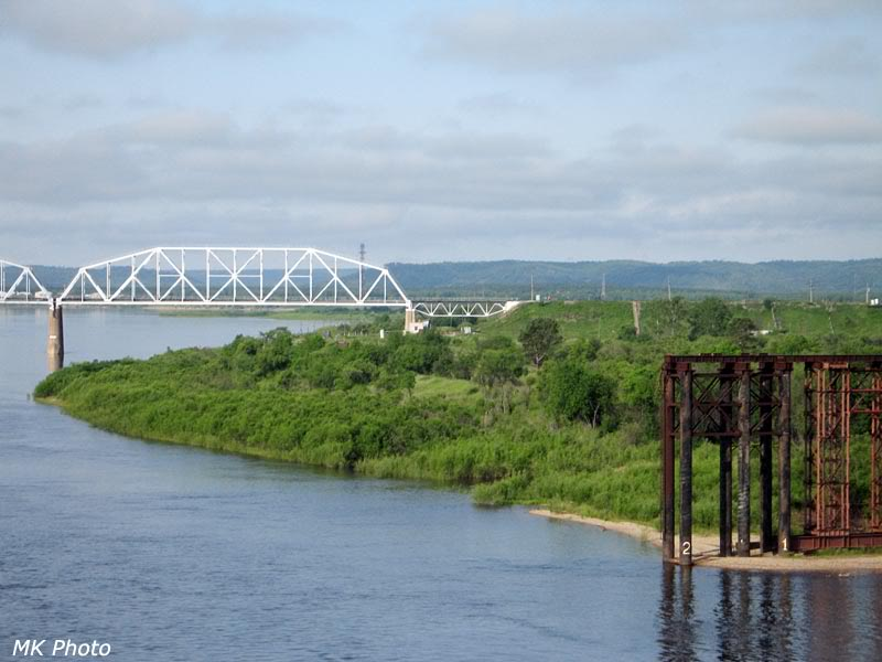 Фрагмент чётного моста через Зею