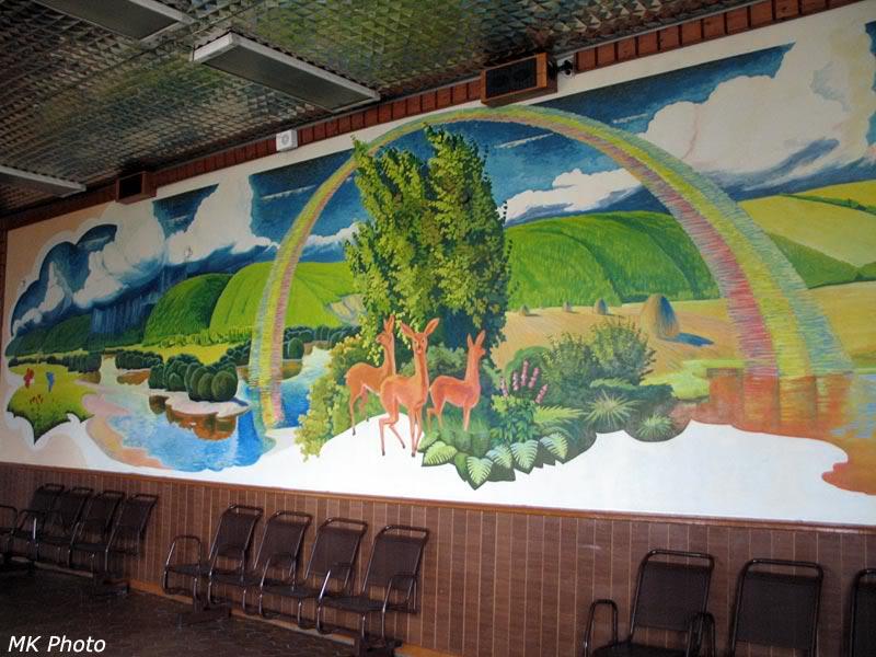 Картина внутри вокзала Завитая
